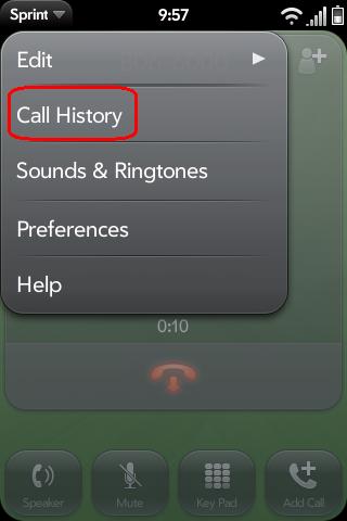 Call History During Call Screenshot 0