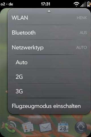 Toggle 3G in Device Menu Screenshot 0