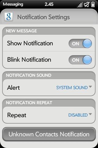 Advanced System Prefs - Messaging Prefs (ATT/VZW) Screenshot 1