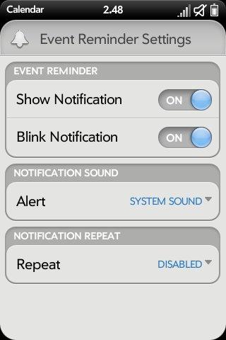 Advanced System Prefs - Calendar Prefs (ATT/VZW) Screenshot 1