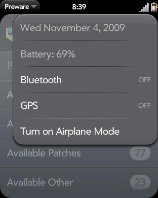 GPS in Device Menu Screenshot 0