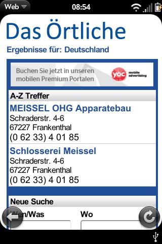 Reverse number lookup GERMAN Screenshot 1