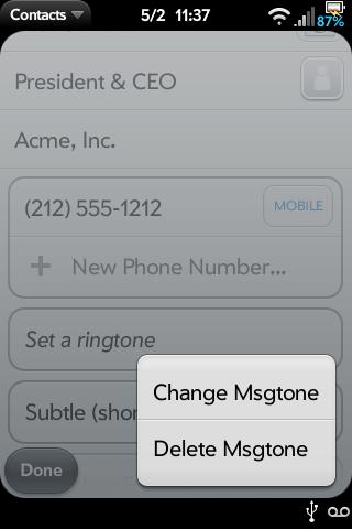 SMS Tone per Contact v2 Screenshot 1