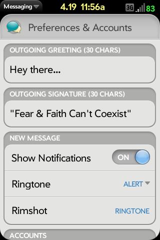 Message Signature Screenshot 0