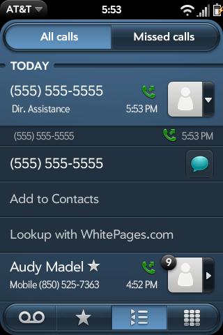 WhitePages Call Log Phone Lookup Screenshot 0