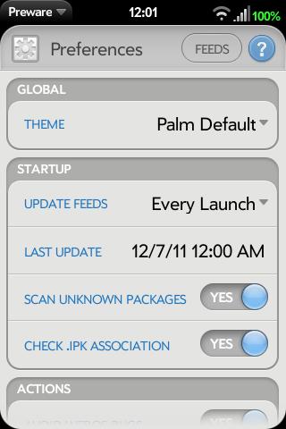 Application:Preware - WebOS Internals