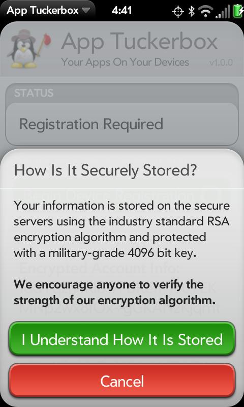 App Tuckerbox Screenshot 2