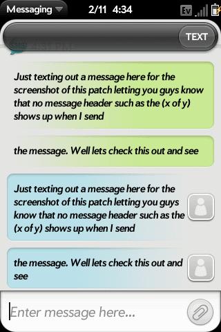 No Multi Message Header Screenshot 0
