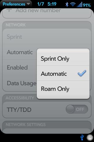 Add Roam Control to Prefs Screenshot 1