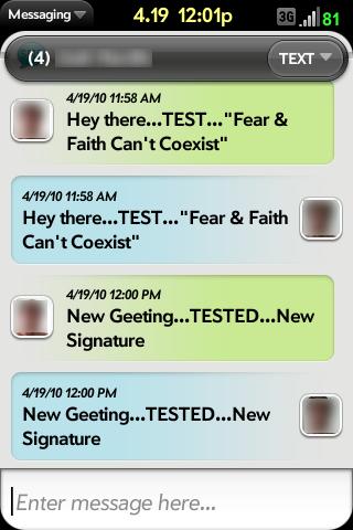 Message Signature Screenshot 1
