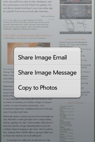 Share Image Message Option Screenshot 0